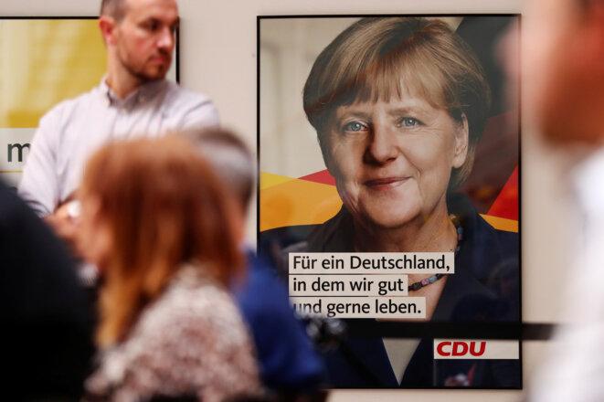 Affiche électorale d'Angela Merkel, août 2017 © Reuters
