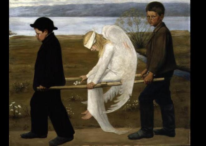 L'ange blessé © Hugo Simberg