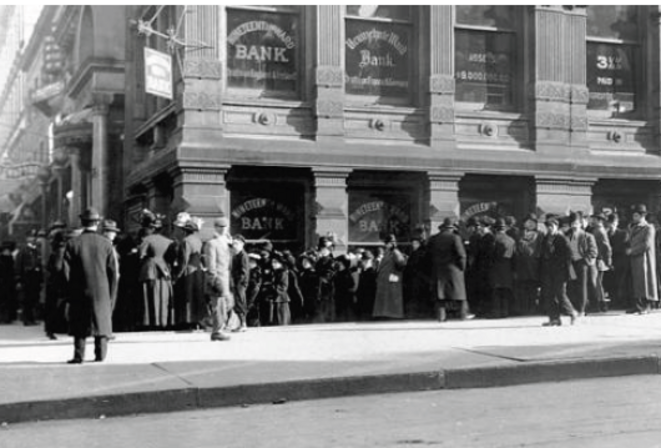 Panique bancaire  1907 © dr