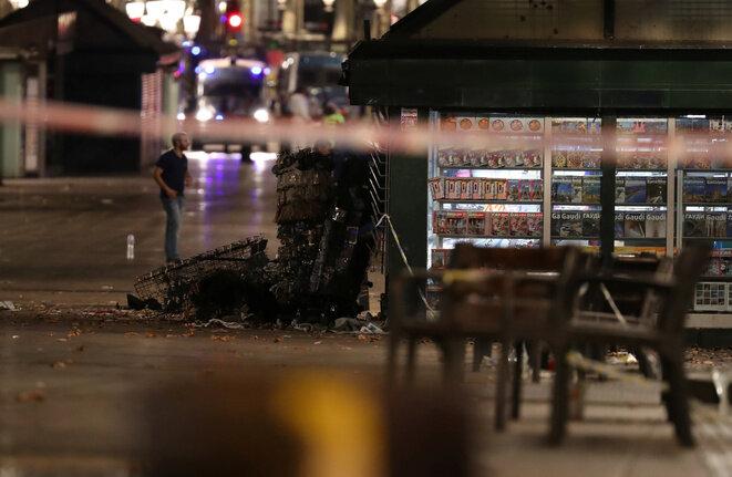 En las Ramblas de Barcelona, lugar del atentado ocurrido el jueves 17 de agosto de 2017. © Reuters