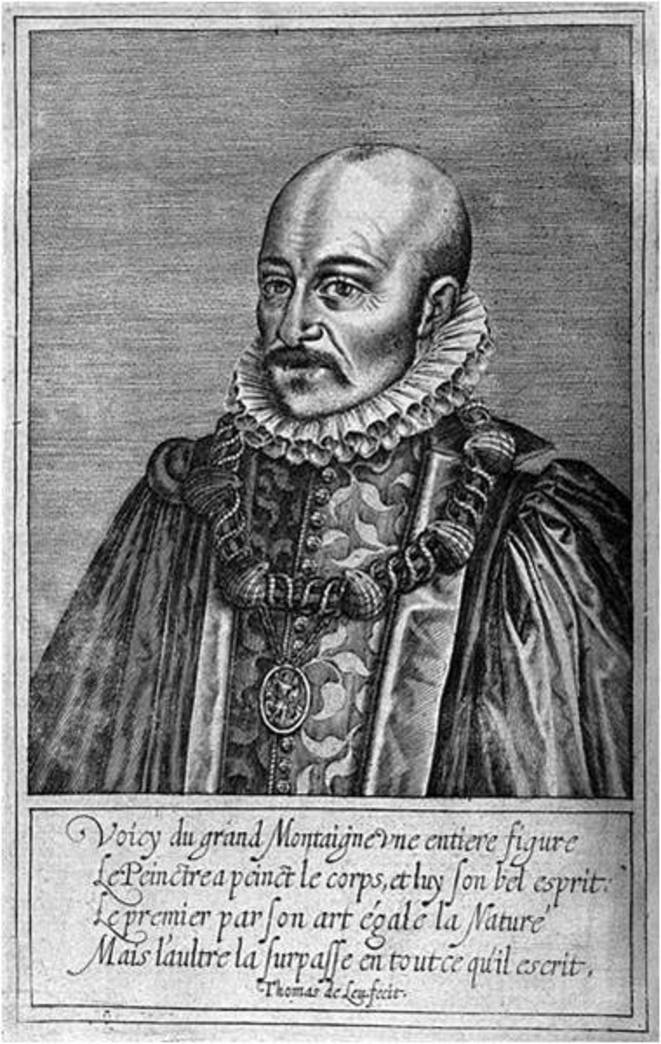 Michel de Montaigne, estampe de Thomas de Leu