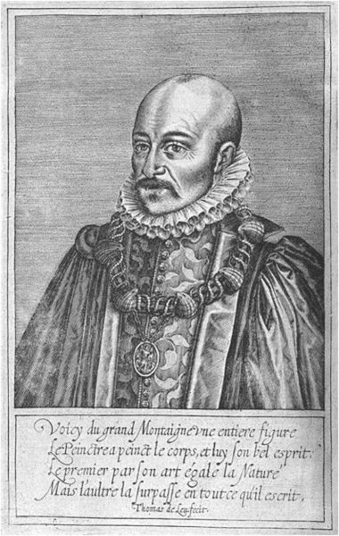 Michel de Montaigne, estampe de Thomas de Leu