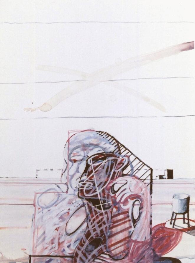 """Gouache de Bernard Thomas-Roudeix intitulée """"Source tarie"""" (2005-24x32-cm) A visiter le site de l'artiste: http://thomas-roudeix.com © Bernard Thomas-Roudeix"""