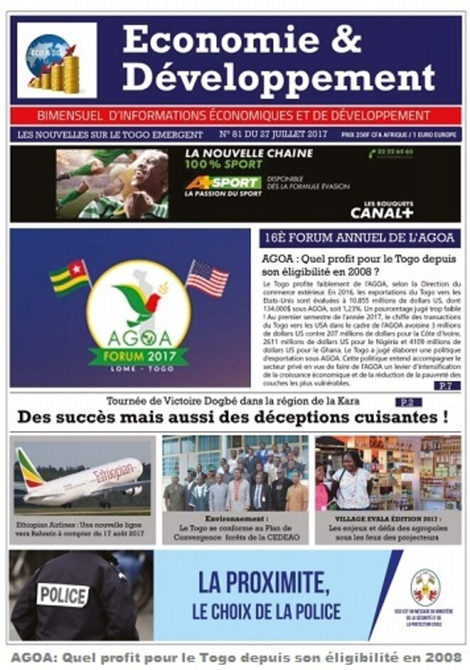 Economie & Développement Forum Agoa Lomé 2017
