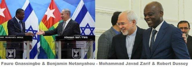 Faure Gnassingbé & Benjamin Netanyahou - Mohammad Javad Zarif & Robert Dussey
