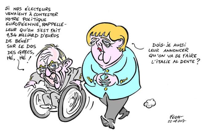 """un des slogans de la CDU: """"renforcer l'Europe c'est renforcer l'Allemagne"""" © FLOH-Florence Debray"""