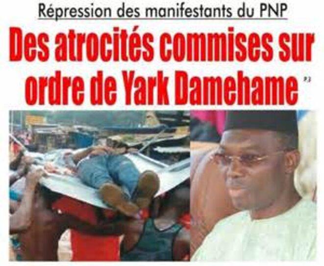 Togo Atrocités commises sur instruction de Yark Demehame