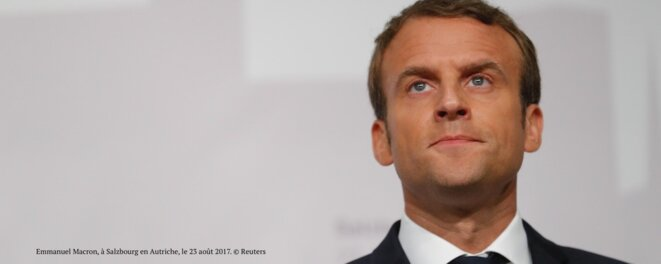 Facing problems: President Emmanuel Macron.