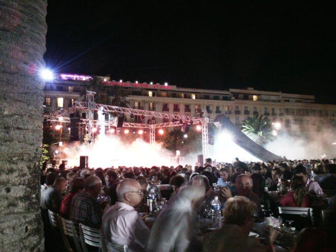 Début de soirée au Festin Nissart le 1er septembre 2017 à Nice © Didier CODANI