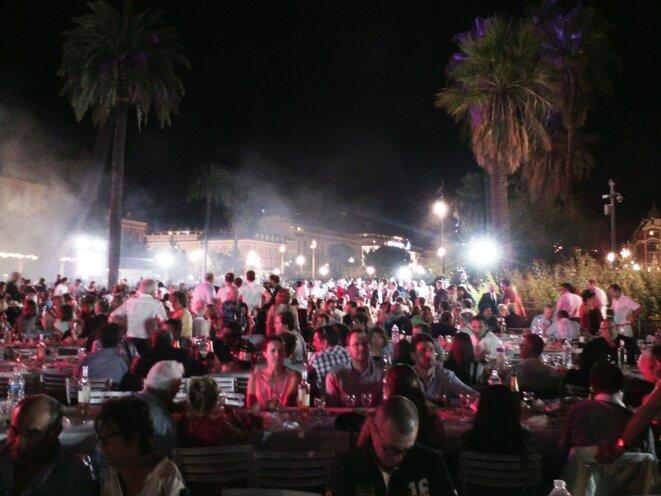Le Festin Nissart du 1er septembre 2017 en cours de soirée © Didier CODANI