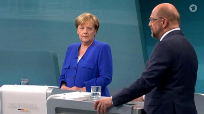 « Das TV-Duel », le seul débat télévisé de la campagne législative. © Reuters