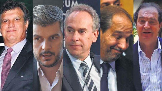 Gianfranco Macrì, Marcos Peña Braun, Marcelo Mindlin, Nicky Caputo, Pablo Clusellas. © pagina 12