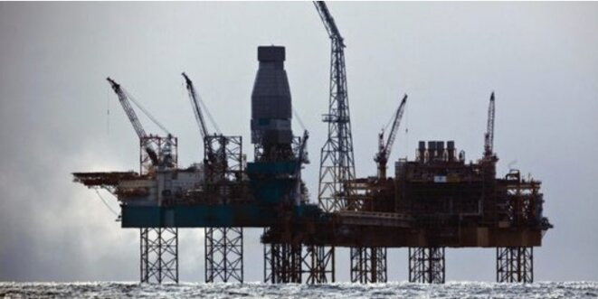 Plateforme Elgin de Total en mer du Nord, en 2012 (Reuters).