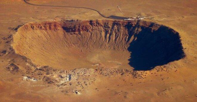 Le célèbre Meteor Crater d'Arizona (1 kilomètre de diamètre) est le résultat de l'impact d'une météorite d'à peine 15 mètres de diamètre. © Steve Jurvetson, CC by-nc 2.0 © © Steve Jurvetson, CC by-nc 2.0