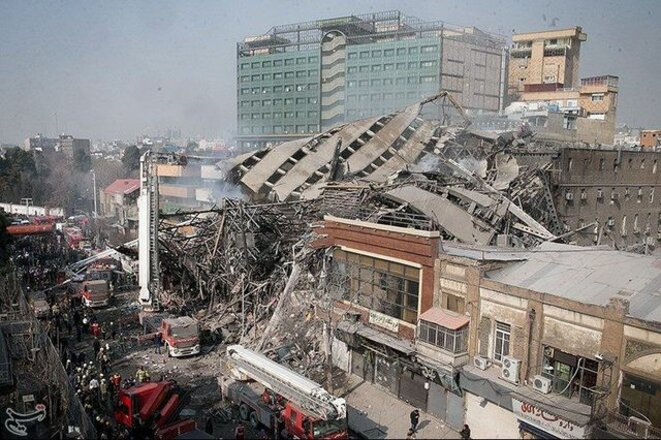 a-collapsed-building-is-seen-in-tehran-5782309