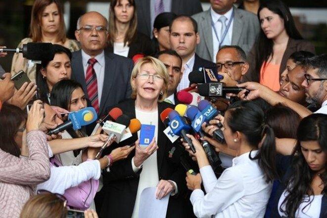 Luisa Ortega Diaz, la Fiscal General de la República (équivalent de Procureure générale de la République) en fonction de décembre 2007 à août 2017