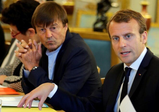 le-president-emmanuel-macron-et-nicolas-hulot-ministre-de-la-transition-ecolo