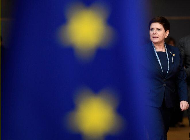 La première ministre polonaise Beata Szydło, lors d'un sommet européen en mars 2017 © Reuters