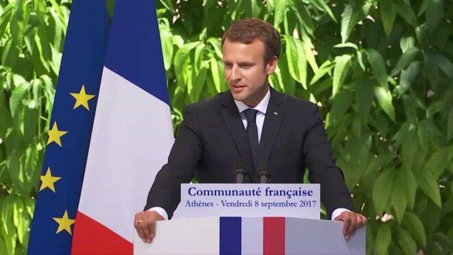 Le Président de la République Française à Athènes le 8 septembre 2017