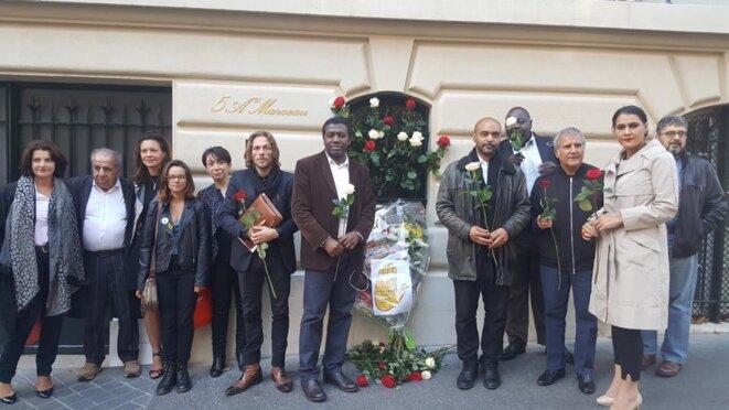Hommage de sono racisme à Pierre Bergé avec l'Egalité Nationale © sos racisme