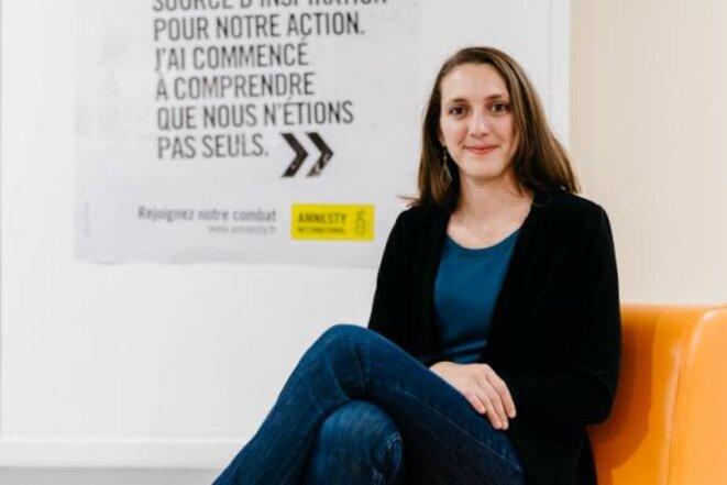 Camille Blanc, présidente d'Amnesty International France