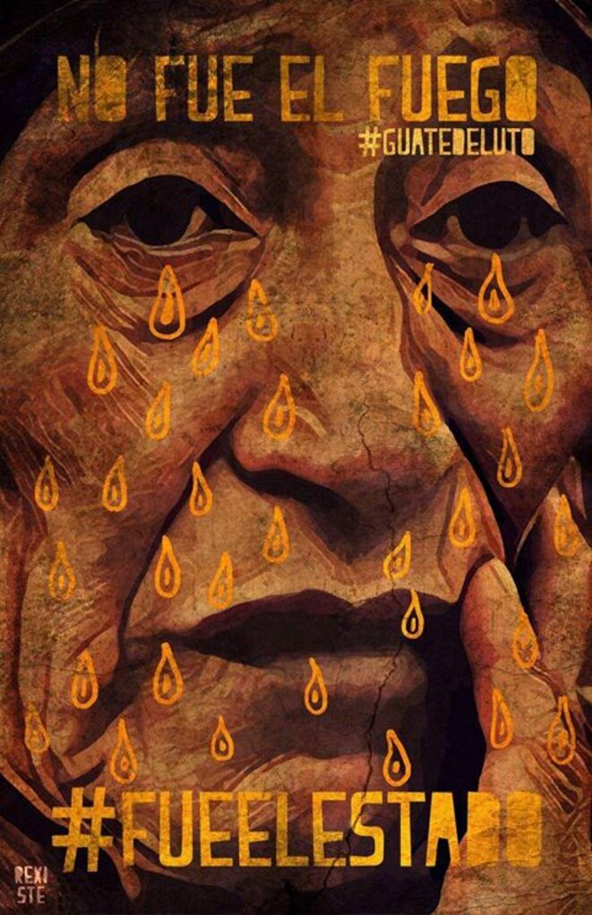 Nous pleurons les 56. © Collectif Ocho Tijax