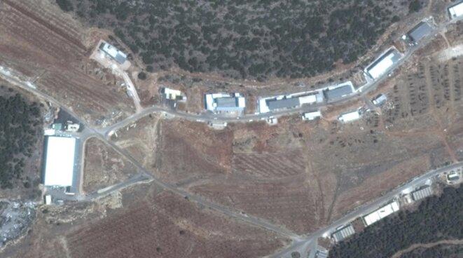 Une photo satellite des installations de Masyaf, en Syrie. © Digital Globe