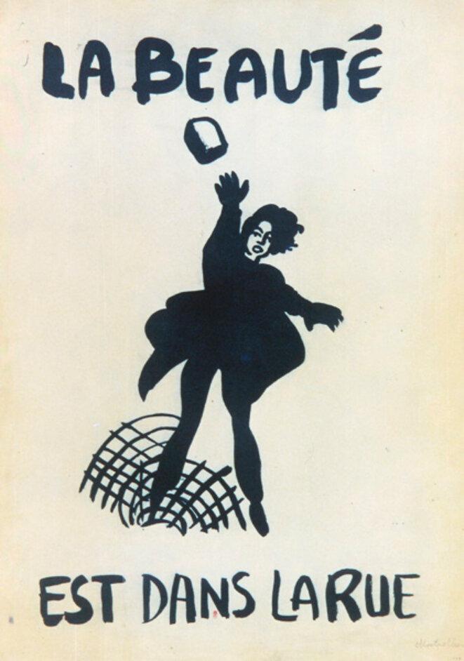 L'affiche originale des Ateliers Populaires.
