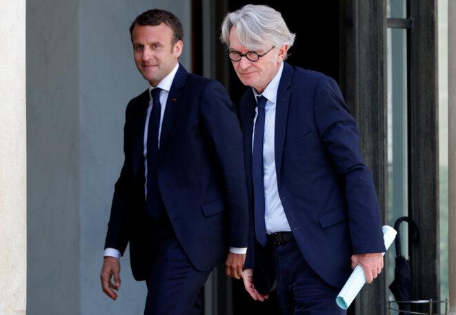 Jean-Claude Mailly et Emmanuel Macron, à l'Élysée, le 23 mai 2017 © Reuters/Philippe Wojazer