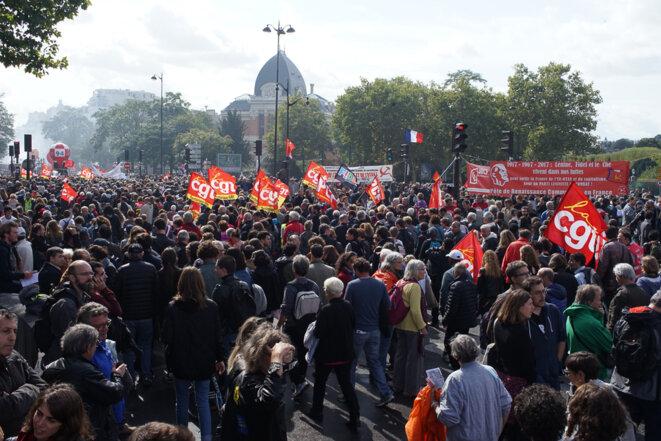 Le cortège du 12 septembre à Paris. © Amélie Poinssot