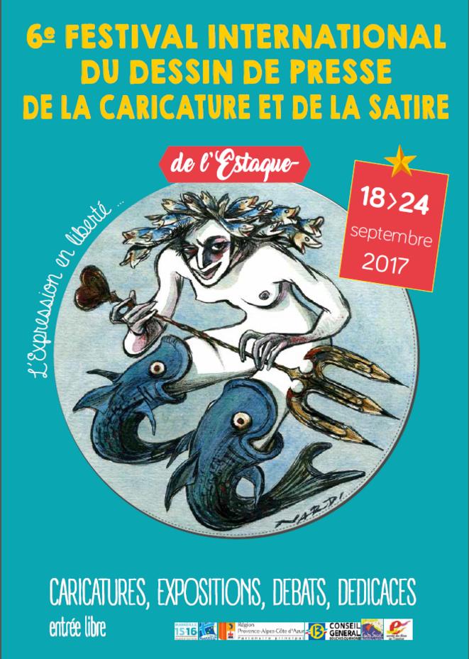 Affiche du 6e Festival International de l'Estaque du dessin de presse, de la caricature et de la satire © Nardi (affiche de l'événement)