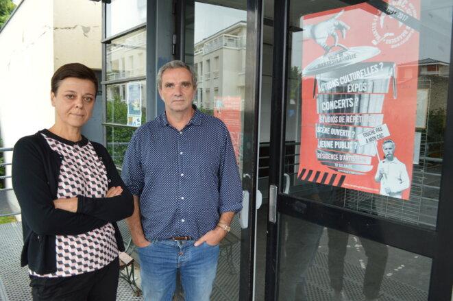 Claire Guérin, directrice du CAC, et Thierry Duval, directeur du CRY © Florian Dacheux