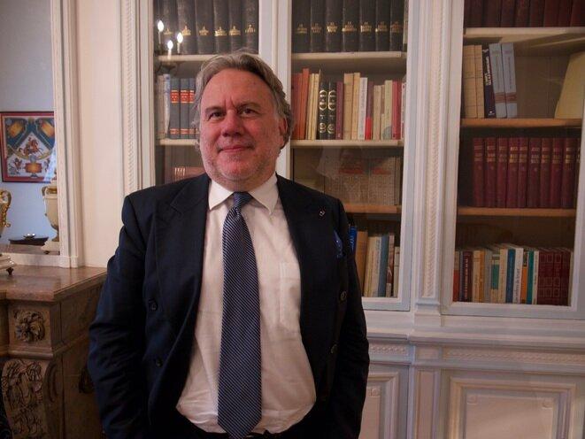 Yorgos Katrougalos, en París, el 5 de septiembre de 2017. © AP