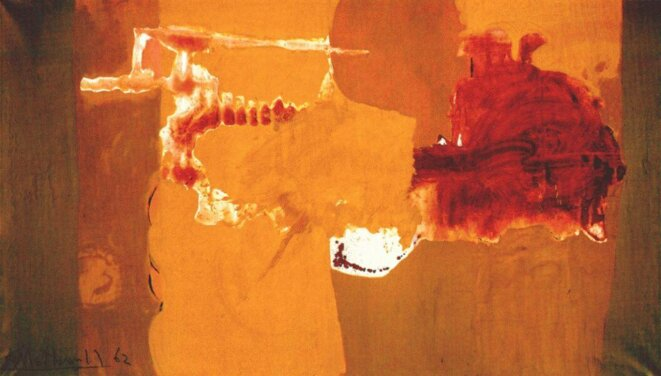 Motherwell, « Chi ama, crede », 1962, 208,28 x 358,14 cm