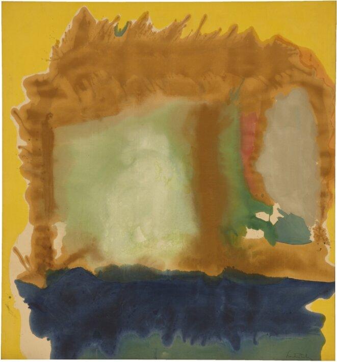 Frankenthaler, « Milkwood Arcade », 1963, 219,7 x 205,1 cm, © Helen Frankenthaler Foundation/ARS