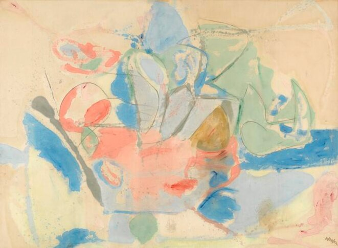Frankenthaler, « Mountains and Sea », 1952, 219,14 x 297,8 cm, © Helen Frankenthaler Foundation/ARS