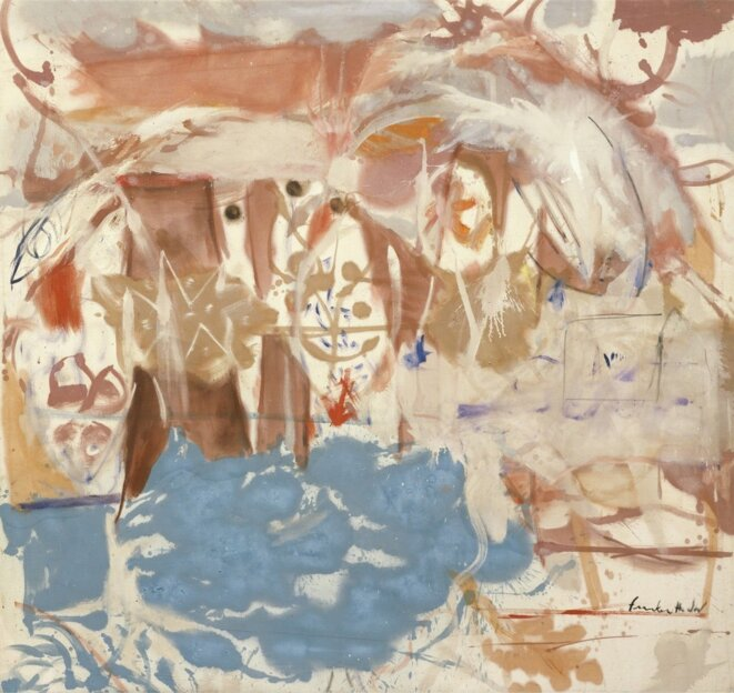 Frankenthaler, « Dawn after the storm », 1957, 165,7 x 177,8 cm, © Helen Frankenthaler Foundation/ARS