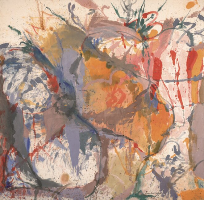 Frankenthaler, « Before the caves », 1958, 260 x 265,1 cm, © Helen Frankenthaler Foundation/ARS
