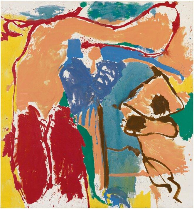 Frankenthaler, «Mediterranean Thoughts», 1960, 256,5 x 237,5 cm, © Helen Frankenthaler Foundation/ARS