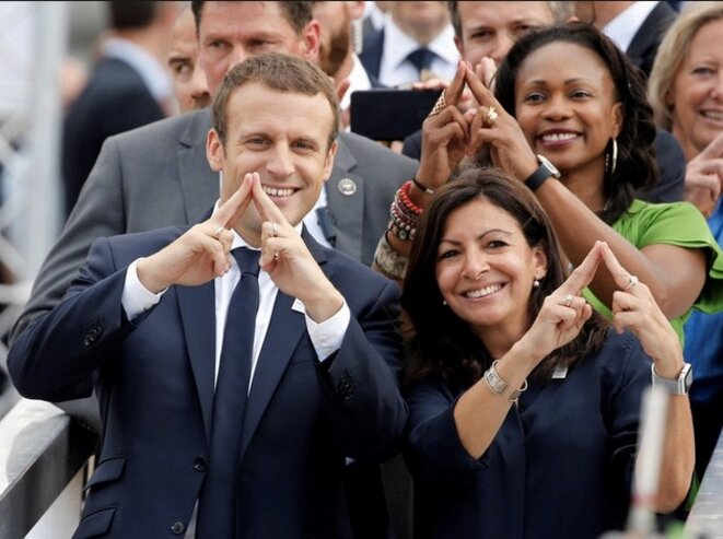 Emmanuel Macron et Anne Hidalgo aux Journées de l'olympisme, juin 2017 (Reuters).
