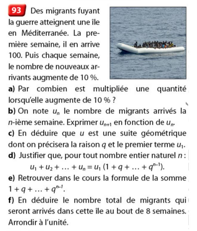 Un exercice proposé dans un manuel de mathématiques des Éditions Nathan