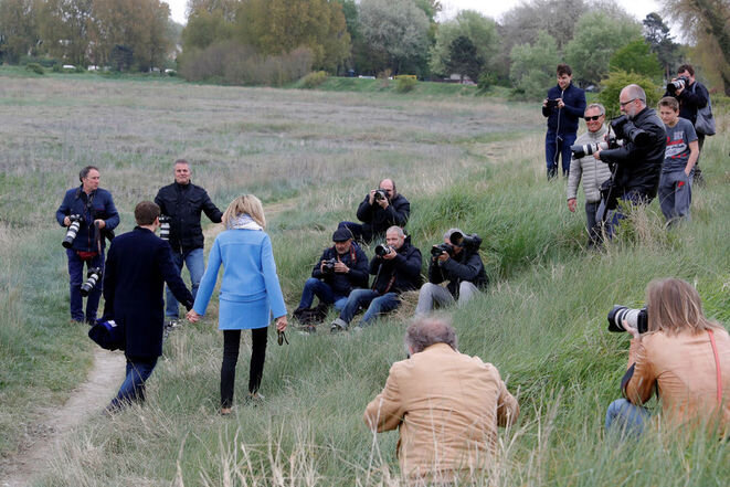 Emmanuel et Brigitte Macron © Reuters