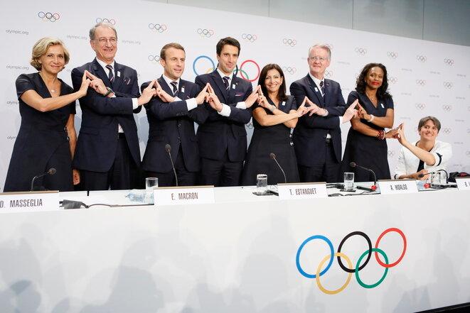 La delegación francesa en julio en Lausanne. © Pierre Albouy / Reuters