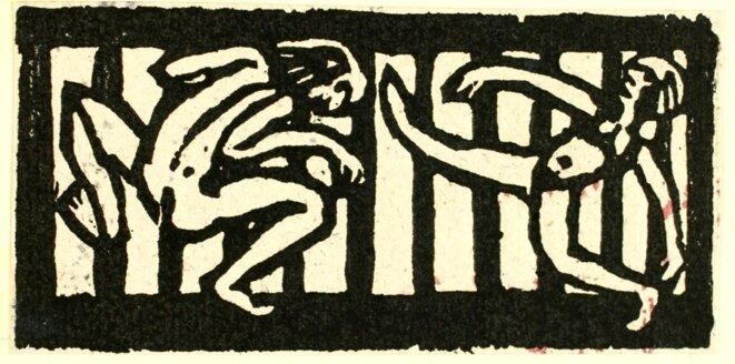 Emil Nolde, deux danseurs (1924)