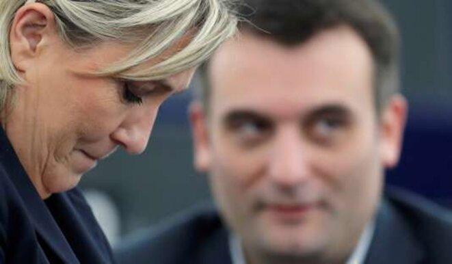 Florian Philippot et Marine Le Pen © Christian Hartmann / Reuters