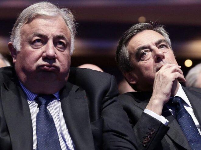 François Fillon (sénateur de 2005 à 2007) avec l'actuel président du Sénat, Gérard Larcher © DR