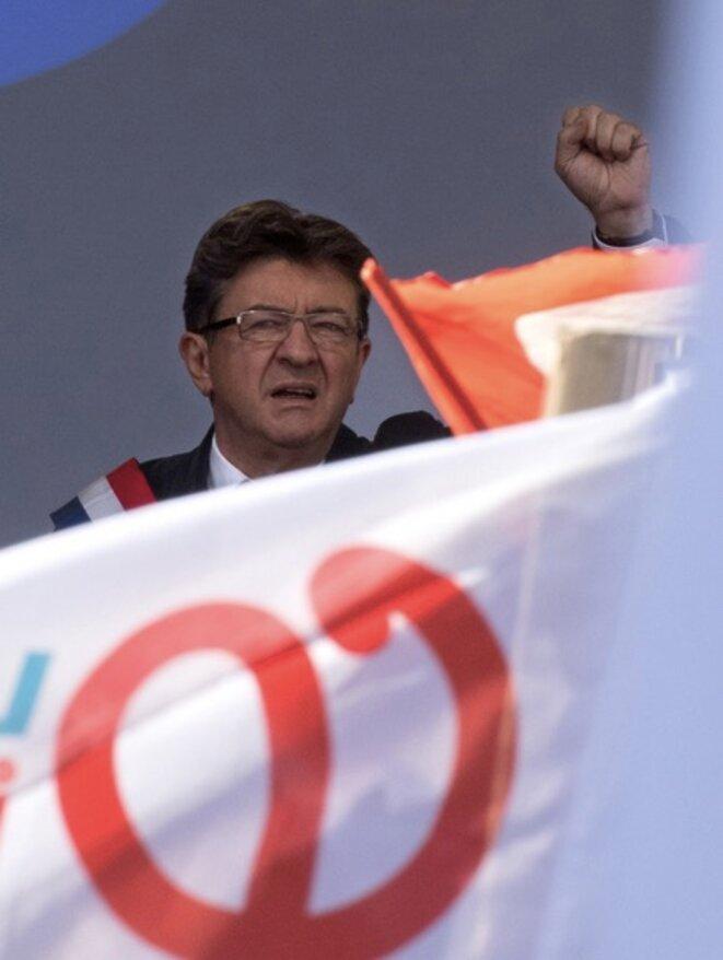 Jean-Luc Mélenchon, le 23 septembre, place de la République © Philippe Wojazer/Reuters