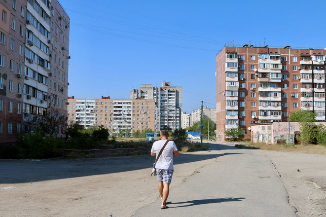 Le quartier de Kasyanenkos à Zaporijia. (Photo: Nolan Peterson/The Daily Signal)