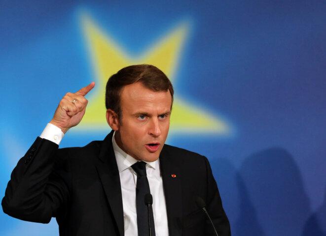 Emmanuel Macron le 26 septembre à Paris © Reuters
