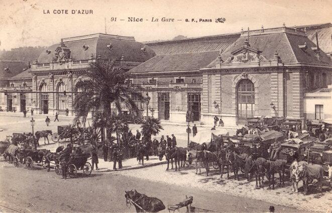 La gare de Nice en 1900